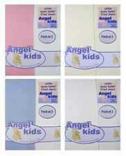 Baby 100% Cotton Moses Basket/ Pram/Crib jersey Fitted Sheets by Angel Kids 2pp