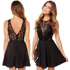 Women's dress Backless Cocktail Lace Short Mini Dress Sexy Sleeveless Party Ball