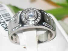 1819  MANS PINKY SIMULATED DIAMONDS MENS RING SIGNET SMART STAINLESS STEEL