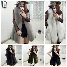 Ladies Womens Warm Gilet Faux Fur Vest Outwear Winter Coat Overcoat Waistcoat