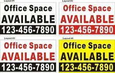 3ftX5ft Custom Office Space AVAILABLE (For Lease) Banner Sign w/ Your Phone #