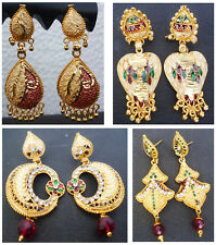 Earrings Indian 22K Gold Plated Latest Various Type of Fashion Drop Dangler Set