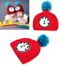 Baby Kid Boy Girl Wool Crochet Knit Strawberry Beanie Winter Warm Hat Photo Prop