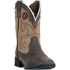 Laredo Collared Childrens Brown/Tan 8 with Collar Western Cowboy Boot