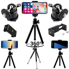 Tripod Mini Holder 360 Degree Adjustable Rotatable Stand For Mobile Cell Phones