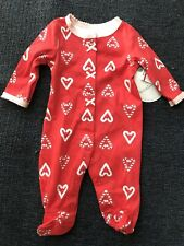 Koala Baby Girls One Piece Holiday Christmas Sleeper Candy Cane NB 0-3 3-6 NEW