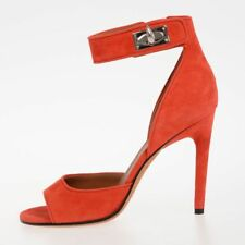 GIVENCHY New woman Red Suede Leather Sandals Shoes Heel Made in Italy