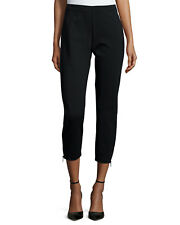 NWT EILEEN FISHER Heavy Weight Rayon Knit Slim Pants with Ankle Zippers S L $158