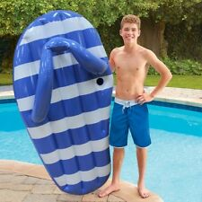 Giant Inflatable Stripe Slipper Pool Float for Adult Ride On Water Swimming Ring