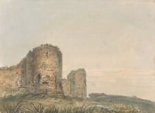 Pevensey Castle Sussex Thomas Girtin 1795 Art Photo /Poster Reproduction Gift Id