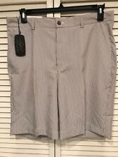 NWT Greg Norman Almond White Stripe Golf Shorts Size 34 and 40 MSRP $ 69