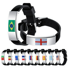 2018 World Cup Country Flag Silicone Bracelet Football Fans Men Sport Wristband