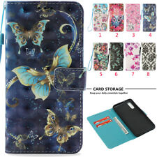 3D Pattern Wallet Leather Magnetic Card Flip Stand Cover Case For Huawei /Xiaomi