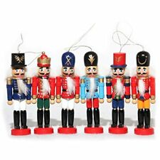 Naimo Set of 6 Christmas Wooden Nutcracker Soldier Ornament Decoration for Home
