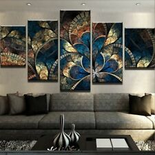 Abstract Canvas Painting Wall Art Oil Poster Wall Pictures 5 Panel Fantasy