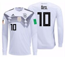ADIDAS MESUT OZIL GERMANY LONG SLEEVE HOME JERSEY WORLD CUP 2018 PATCHES.