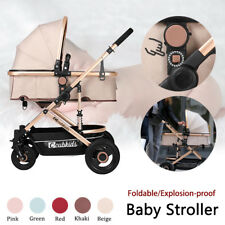 Foldable Explosion-proof Stroller Baby Pushchair Portable Travel Carriage Infant