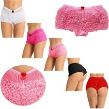 Women's Ruffled Lace Knickers Pants Boxer Briefs Panties Safety Shorts Underwear