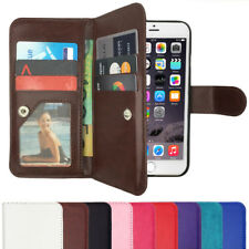 Magnetic Leather Flip Case Wallet Stand Flip Cover For iPhone X 7 6S 8 Plus 5 SE
