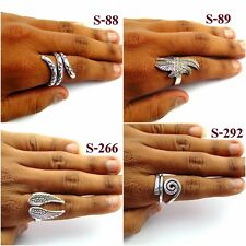 Tribal Silver Plated Band Ring Alloy Overlay Brass Plain Fashionable Jewelry