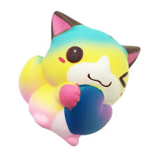Colorful Cat Jumbo Squishy Cute Cream Scented Heart Love Squishies Slow Rising