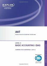 Basic Accounting I - Combined Text and Workbook (Aat), Kaplan Publishing, Used;