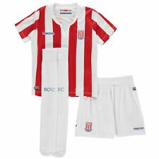 Macron Stoke City Home Mini Kit 2018 2019 Infants Red/White Football Soccer