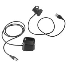 USB Charging Cable Fast Charger Dock Black for Fitbit Versa/Charge3 SmartWatch