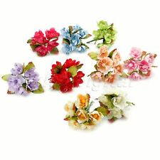 Lovely 6/72Pcs Artificial Silk Fake Flower Wedding Party Home Floral Decor C56D1