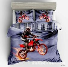 3D Motorcycle Racing Printed Bedding Set Duvet Cover Set Quilt Cover Pillowcase
