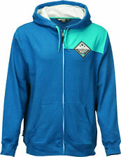 Fly Racing Mens Blue Patch Casual Zip-Up Hoody