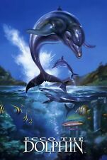187756 Ecco the Dolphin Megadrive Mega CD Game Gear Wall Print Poster UK