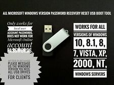 Windows Password Recovery Reset 2019 on USB for Windows 10, 8.1, 8, 7, Vista, XP