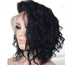 Short Water Wave Bob Wig 13x6 Lace Front Human Hair Wigs Bleached Knots For