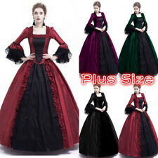 Medieval Victorian Women Flare Sleeve Ball Gown Long Dress Halloween Cosplay