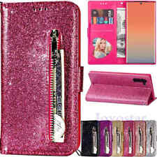 For Samsung Galaxy Note 10 9 S10 S9 S8 S7 Glitter Leather Flip Wallet Case Cover