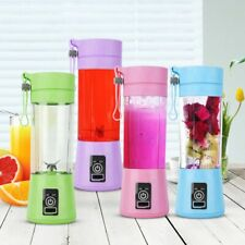 PORTABLE BLENDER USB BOTTLE Rechargeable Juicer Cup Juice 380ml Making Smoothies