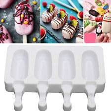 4 Cell Silicone Frozen Ice Cream Mold Juice Popsicle Maker Ice Lolly Pop Mould