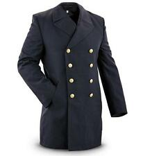 MENS RETRO PEACOAT DOUBLE BREASTED JACKET TRENCH NAVAL REEFER MILITARY VINTAGE