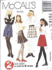 7316 UNCUT McCalls SEWING Pattern Misses Princess Seamed A Line Skirt