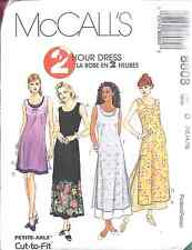 8808 UNCUT McCalls SEWING Pattern Misses 2 Hour Dress Spring Summer SEW OOP FF