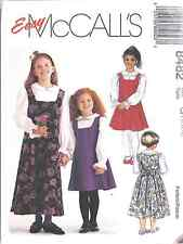 8482 UNCUT McCalls SEWING Pattern Little Girls Jumper Blouse School Church Fall