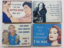 FRIDGE MAGNETS Retro Style with Various Humorous Quotes