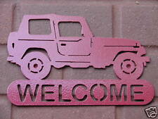 JEEP 4X4 WELCOME SIGN HOME DECOR METAL WHEELER ORV SHOP
