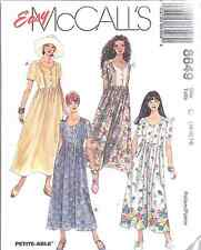8649 UNCUT McCalls SEWING Pattern Misses Easy Fitting Dress Summer Spring OOP