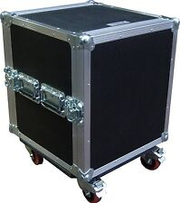 "12U 2 Door 19"" Rack Mount Budget Swan Flight Case (Hex)"