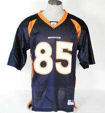 Reebok Denver Broncos Ashley Lelie #85 Blue Short Sleeve Football Jersey Men NWT