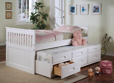 TWIN DAYBED WITH TRUNDLE...WHITE OR CAPPUCICINO FINISH