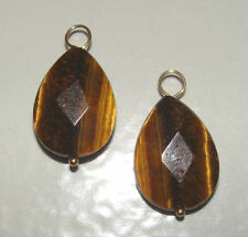 Tigers Eye Tear INTERCHANGEABLE Earring Charms YG or SS
