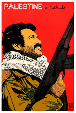 Cuban poster.PALESTINIAN Fighter political art.History.